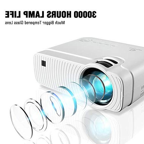 "Mini Lumens Portable 180"" Lamp LED Projector Support 1080P, with for"