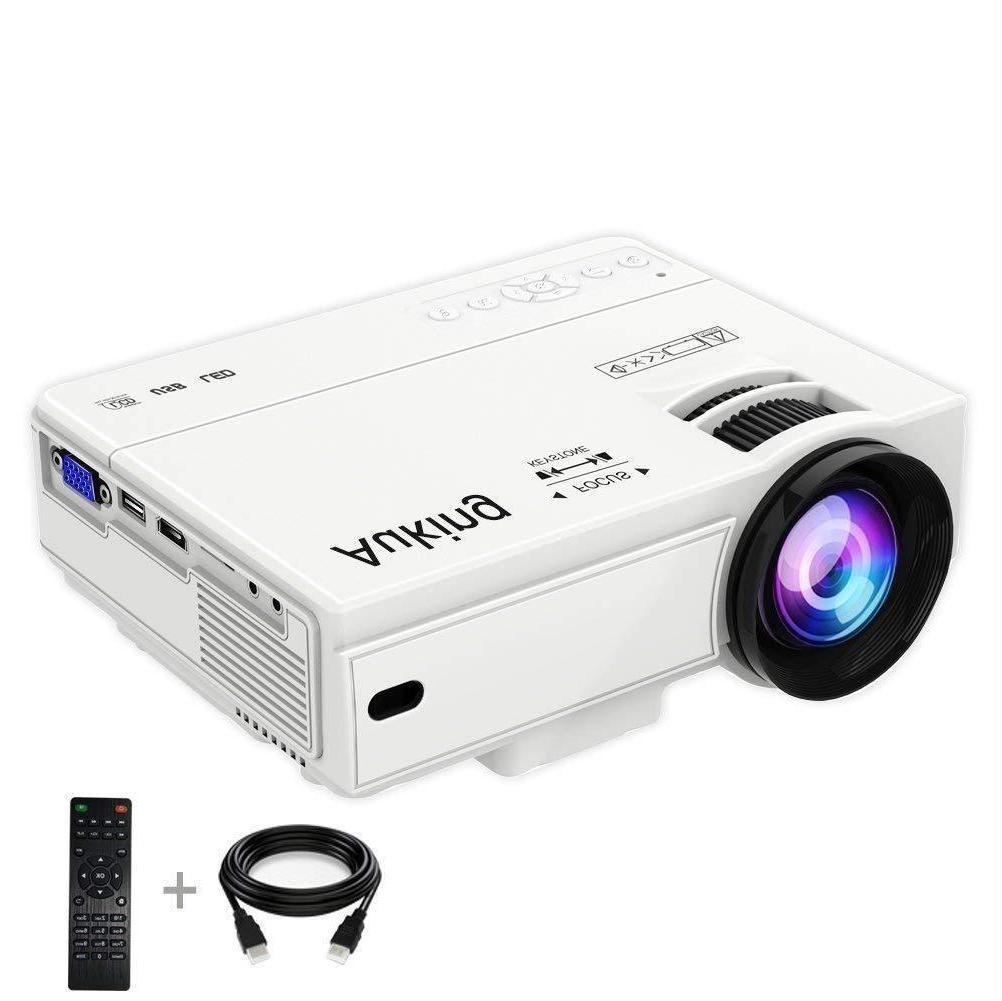 mini projector 2200 lumens portable video projector