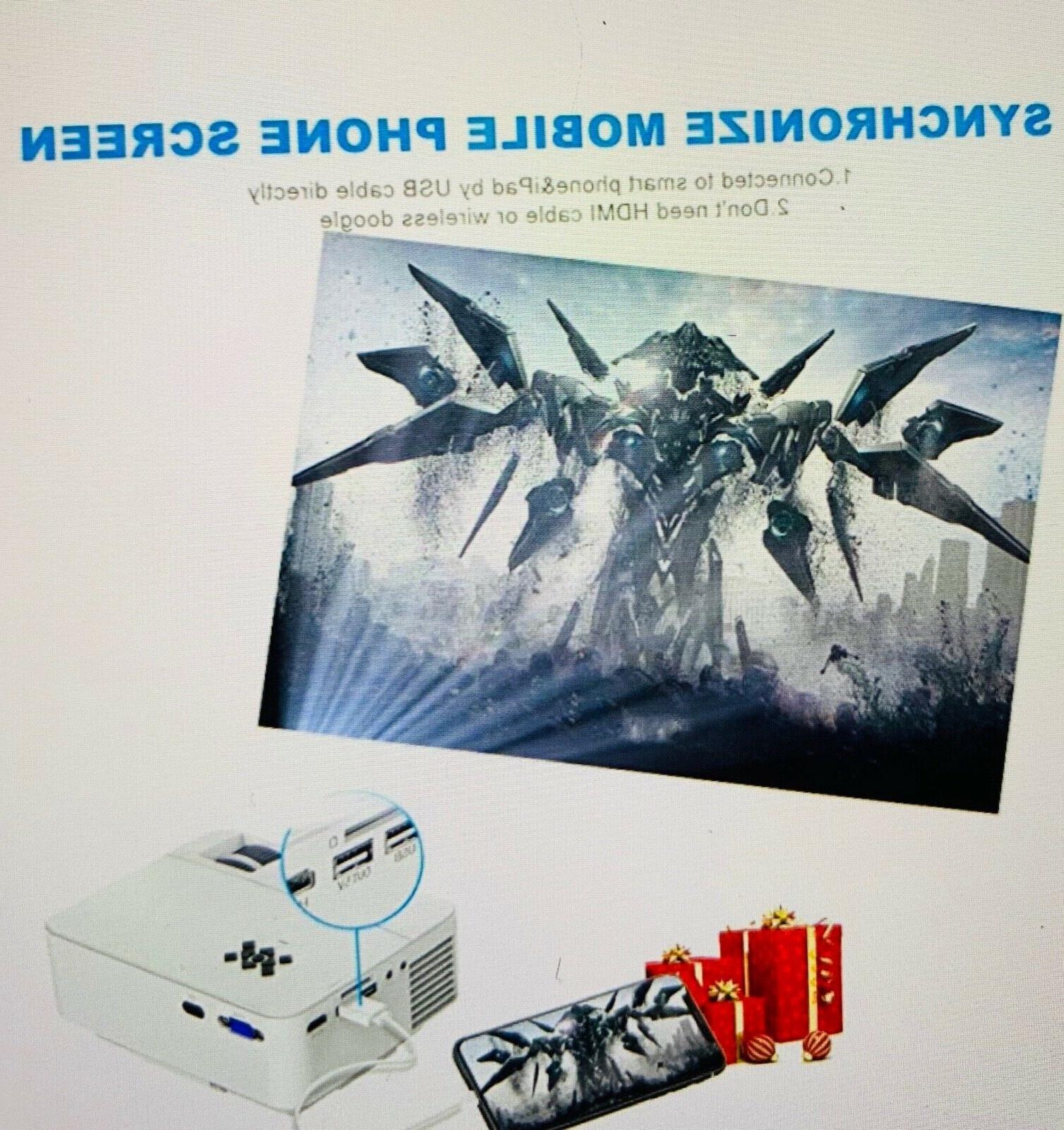 Mini 2400Lux Projector Synchronize