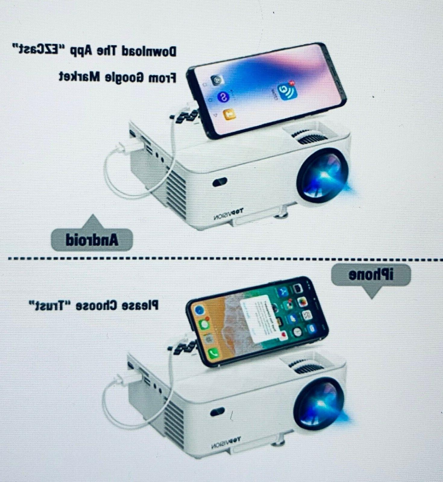 Mini Projector Synchronize Phone Screen