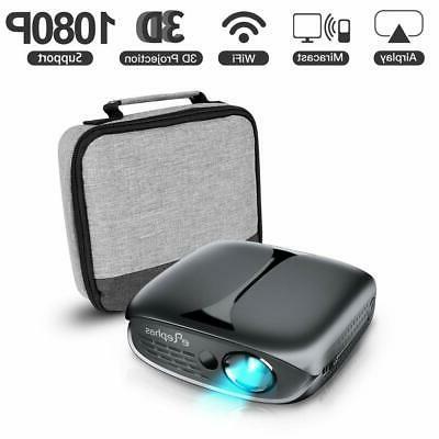 mini projector 2600 lumen wi fi portable