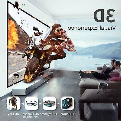 Mini 2600 Lumen DLP 3D Portable Home New