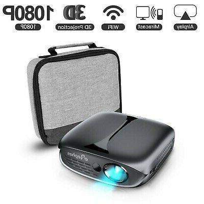Mini Projector, ELEPHAS Lumen WiFi DLP 3D Portable Home New