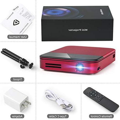 Mini TV LED Projector Battery Smart Pocket Projector Home Outdoor Office Kids Projectors 2500 PODOOR