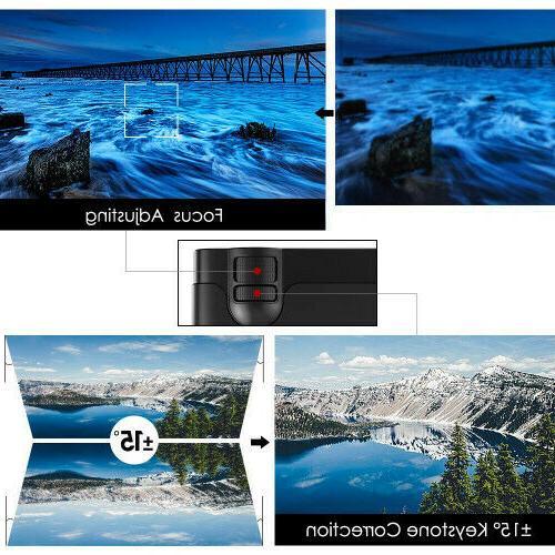 Mini Lumens Portable Theater Video Projector Suppor