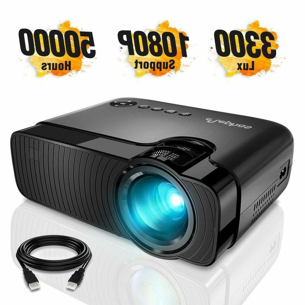 mini projector 3300 lux portable home theater