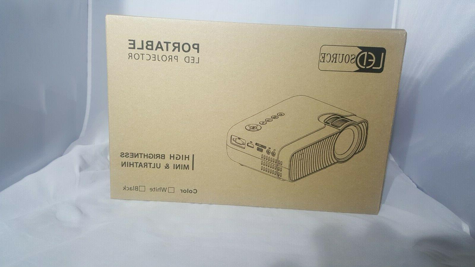 mini projector 3600 lux portable home theater