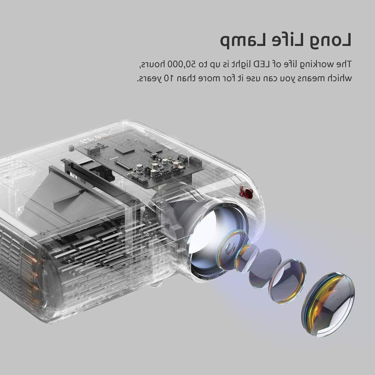 Crenova Mini Projector Lux Video Supported 200'' Display