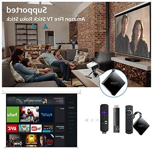 QKK - Theater for Indoor & Movies & Compatible with TV Box, PS4,
