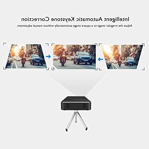 Mini Portable HD LED ANSI HDMI, Micro SD & 3.5mm Remote Android Home Theater