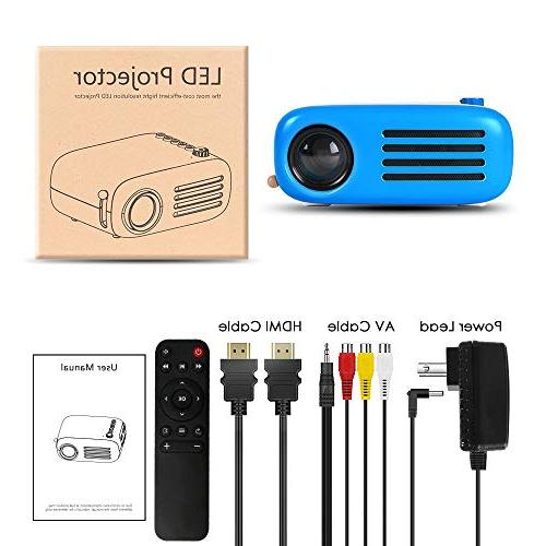 Mini Projector, GooDee Pico Pocket Projector Support PC for Movie