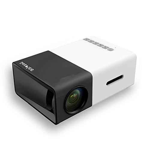 DeepLee DP300 Portable Home Cinema with PC Laptop Pocket Projector for Video Home Black