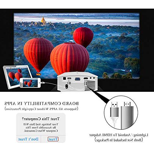 Theater LED with SD Card HDMI Movie Night Laptop Smartphone,