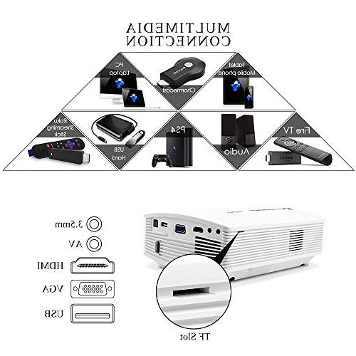 Theater LED SD Card HDMI Movie Night Support Piece Laptop Smartphone,
