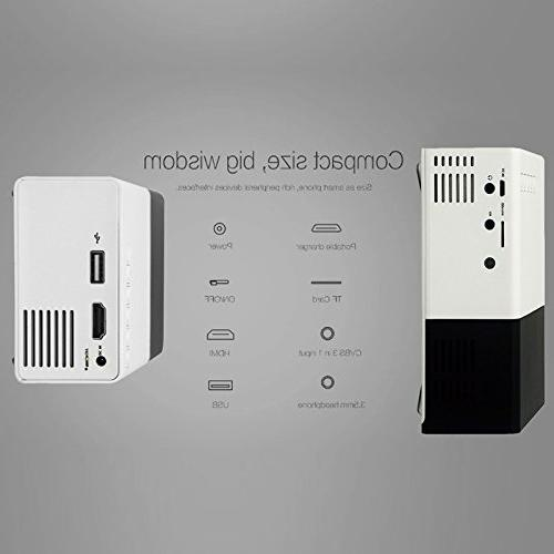 Mini Projector, Fosa LED Projector Home Theater Video Projector for Movie Indoor/Outdoor