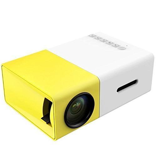 Mini Projector, YG300 LED Support PC Laptop Stick USB/SD/AV/HDMI Input