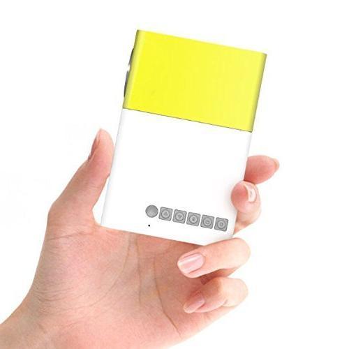 Mini Laptop Stick Input Video Projector- Gift-Yellow