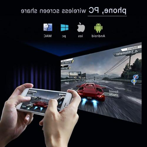 Mini Projector 100ANSI Android 7.1 DLP Video