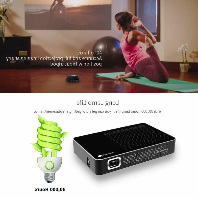 Mini Projector Pro Android 7.1 Portable DLP Video 15