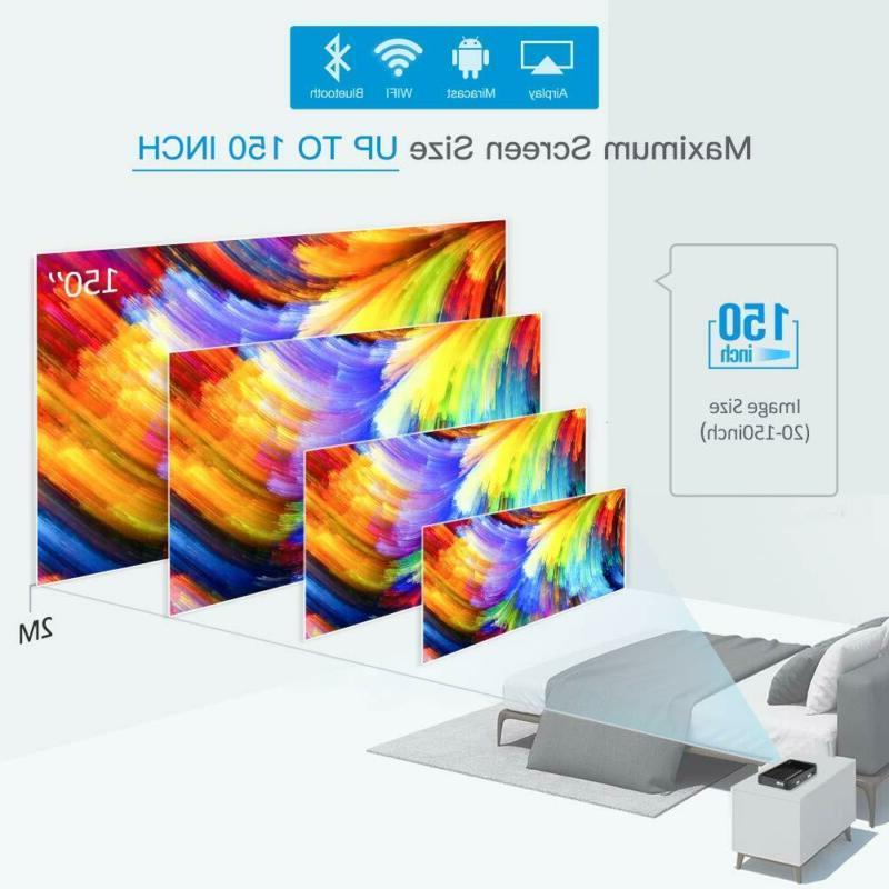 Mini Projector WOWOTO Pro 50% Brighter Portable