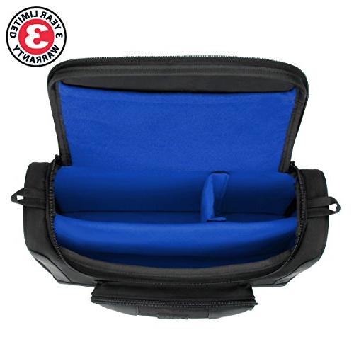 USA Mini Projector Case Small Portable Travel Bag Compatible Meyoung TC80, M1 - Includes Shoulder Dividers