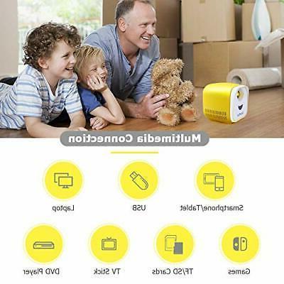 Mini DeepLee Portable Projector for Kids Pocket 1080p