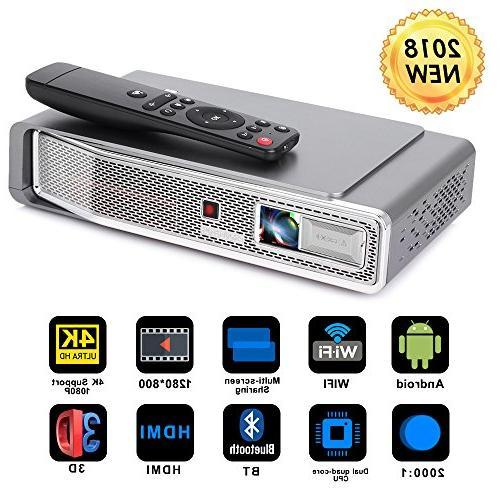 mini projector dlp 3d portable
