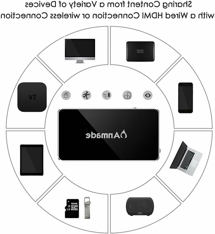 Mini Pocket Projector HD/USB/TF