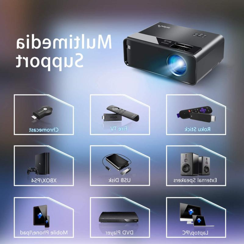 Mini Projector ELEPHAS Movie Projector with Synchronize