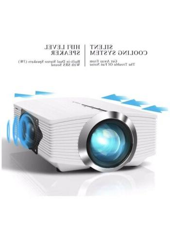 ELEPHAS Mini Projector, Home Theater LED Video 1080P with USB SD