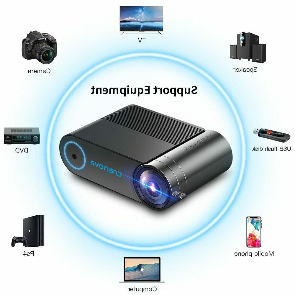 CRENOVA Mini projector 1080p lumens