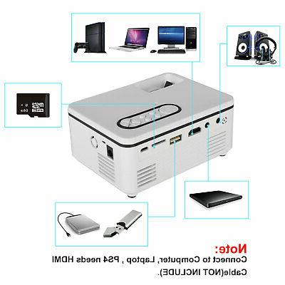 Mini Projector AV TF Portable HD Cinema
