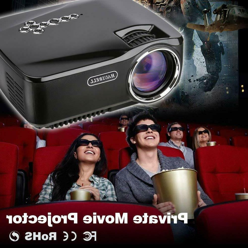 Mini Projector Video LED Projector HD with accessories