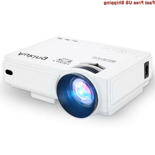 AuKing Mini Projector 2400 Lumens Portable Hours Multimedia Projector Support,Compatible with Amazon Fire