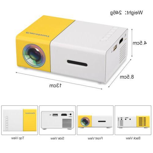 Excelvan Mini Projector 320 x lumens AV SD Card HDMI