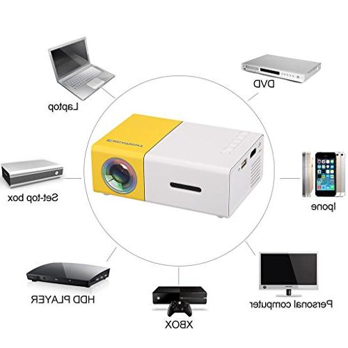 mini projector yg300 av
