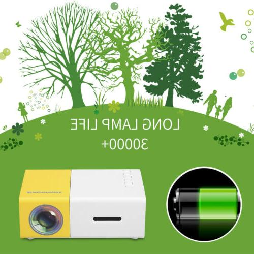 Excelvan Mini Projector 320 x 50 lumens 1080P SD Card HDMI 24W