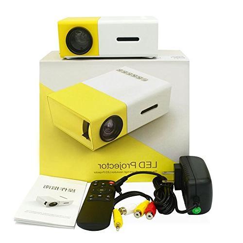 YOUYUAN LCD YG300 3.5mm 320x240 HDMI USB Projector USB/SD/AV/HDMI theater