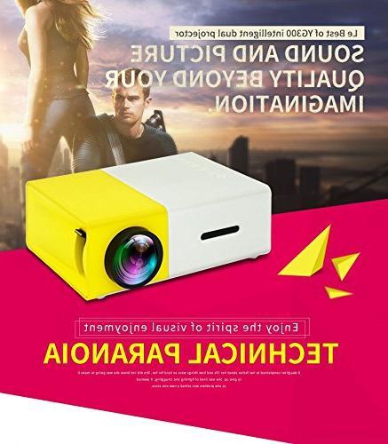 YOUYUAN LCD MINI YG300 3.5mm 320x240 Pixel HDMI USB/SD/AV/HDMI Input theater