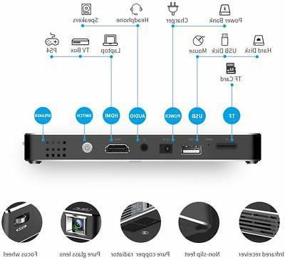 Mini Smart Projector HD HDMI USB