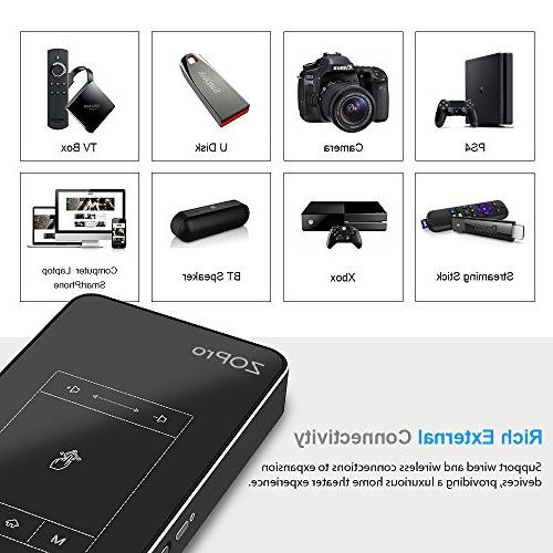 Mini with Display, Android 7.1 OS, Pocket Size with TouchPad Card/USB Compatible with for Home