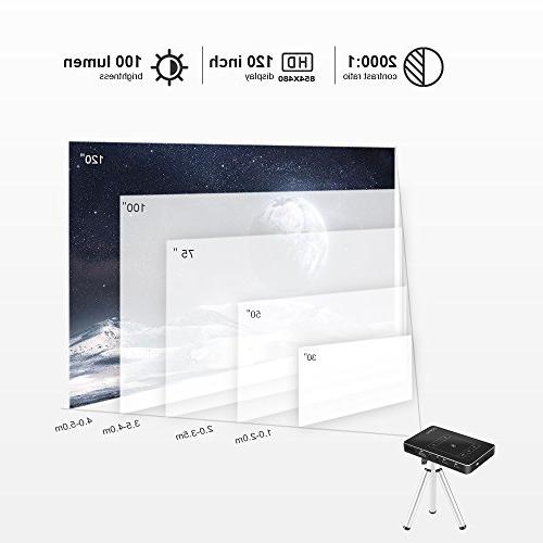 Mini with 7.1 Portable Size Movie TouchPad WiFi/1080P/HDMI/TF Compatible with iPhone for Home Theater