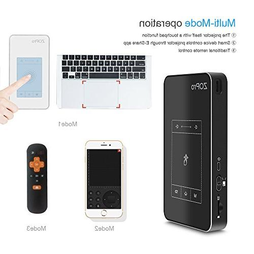 Mini Smart Video with Display, 7.1 Portable Size TouchPad Support WiFi/1080P/HDMI/TF Compatible for
