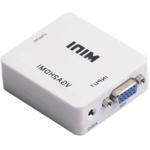 Mini Converter 1080P Adapter Connector Laptop