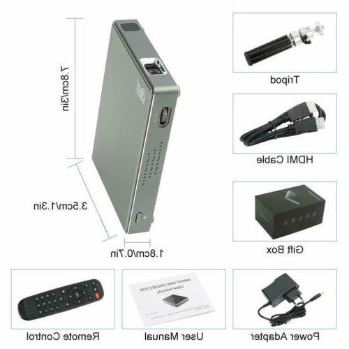 PTVDISPLAY Mini hd Projector-Portable Movie