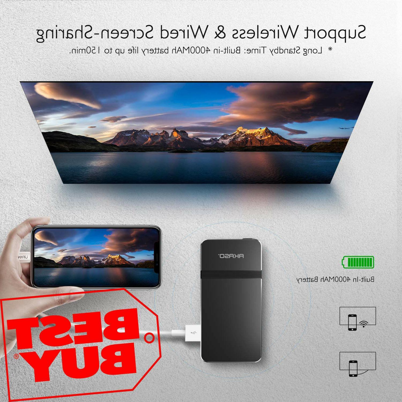 mini video projector 1080p hd dlp led