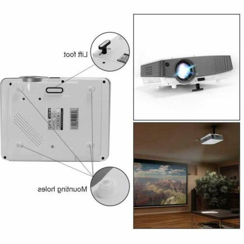 EUG Projector HD 1080P Home Game 4000lm