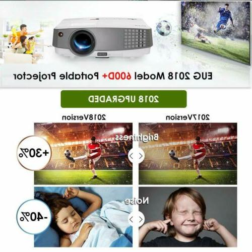 EUG 3600lms Portable Theater Backyard Game HDMI 1080P