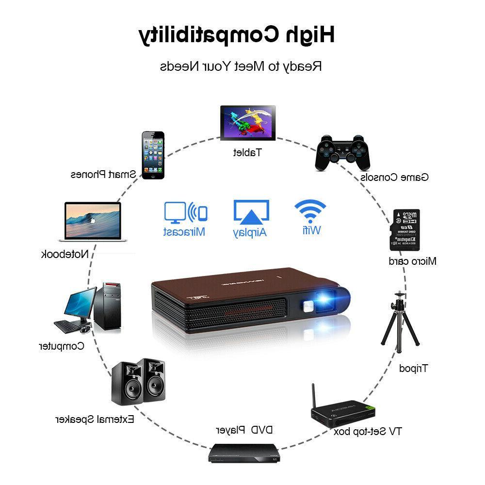 3600lms WIFI Mini Home Wireless Mirroring+Tripod