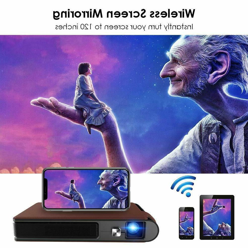3600lms Projector Wireless Screen Mirroring+Tripod